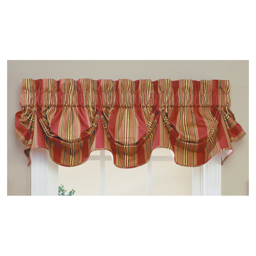 Shop Waverly 16 In L Red Home Classics Scalloped Valance At