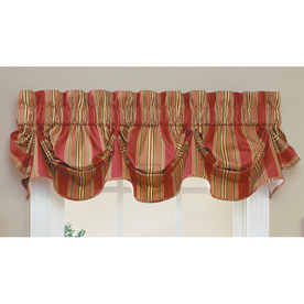 Shop Waverly Home Classics 16 In Red Cotton Rod Pocket Valance At