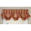 Waverly 16-in L Red Home Classics Scalloped Valance