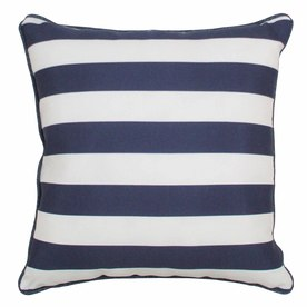PARASOL 20-in W x 20-in L Navy Square Accent Pillow