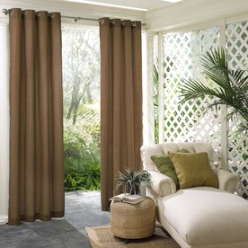PARASOL 96-in L Bark Lake Outdoor Window Curtain Panel