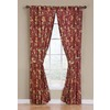 Waverly 84-in L Crimson Felicite Curtain Panel