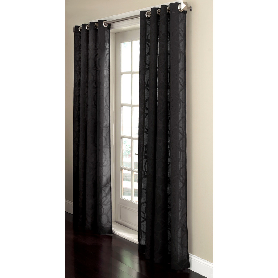 shop allen roth anaheim sheer curtain 84 in l geometric