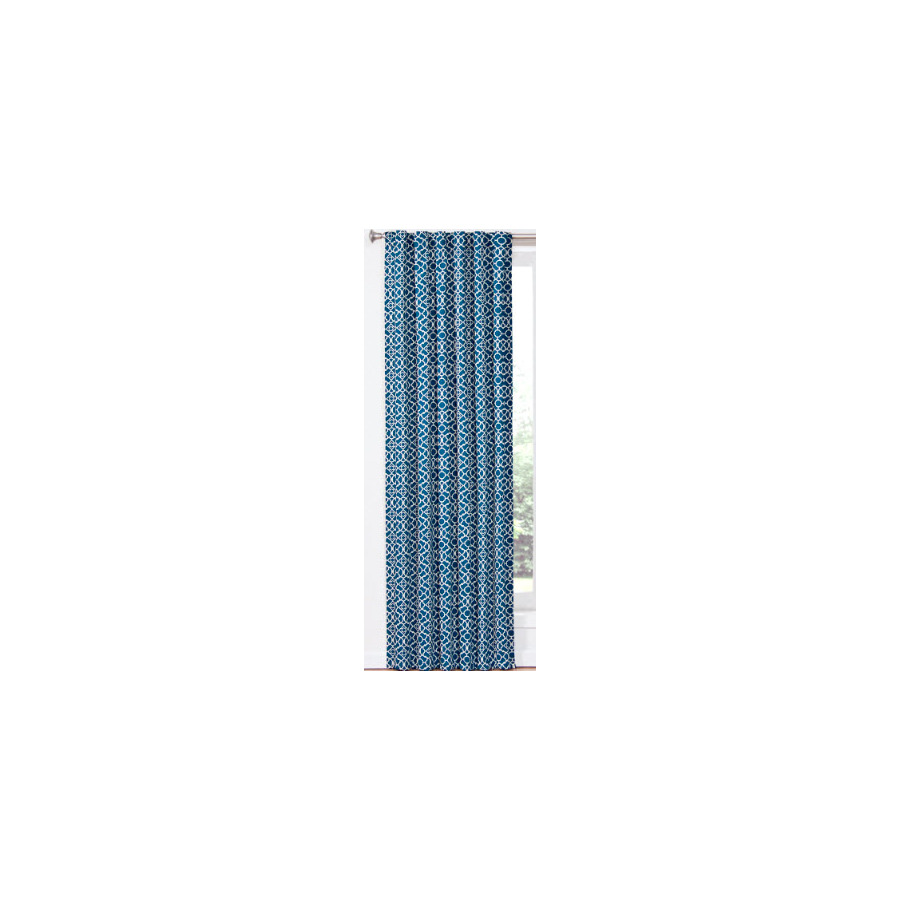 Shop Waverly Waverly Home Classics 84 In L Geometric Indigo Back Tab Window Window Curtain Panel