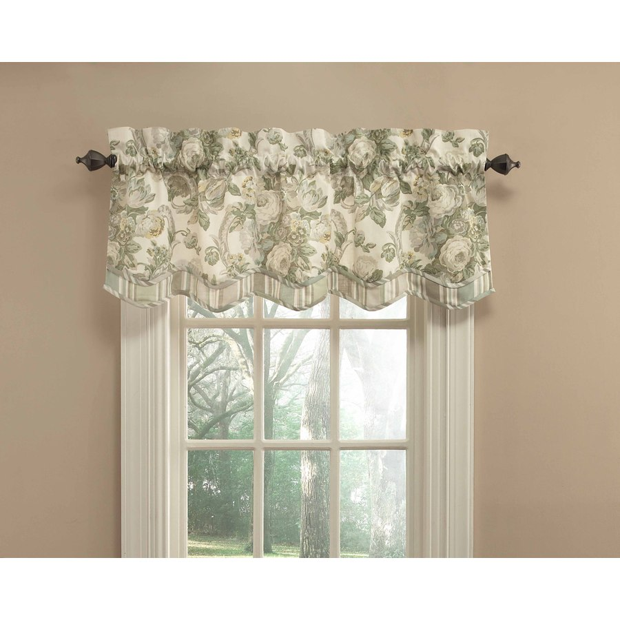 Shop Waverly 18 In L Platinum Spring Bling Scalloped Valance At
