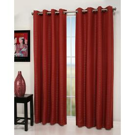 allen + roth Queen City 84-in L Geometric Red Grommet Window Curtain Panel