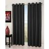 allen + roth 84-in L Black Queen City Curtain Panel