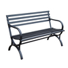 Garden Treasures 23.15-in L Steel/Iron Patio Bench