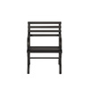 Garden Treasures 23.15-in L x 24-in D x 32-in H Steel Black Park Chair