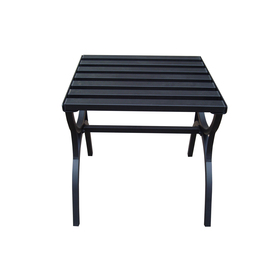 Garden Treasures 18-in x 18-in Black Steel Square Patio Side Table