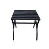 Garden Treasures 18-in x 18-in Black Steel Square Patio End Table