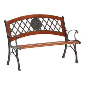 Shop garden treasures 49 5 in l painted wood patio bench at Lowes garden bench