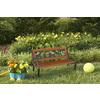 Garden Treasures 16.26-in W x 32.4-in L Patio Bench