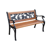 Garden Treasures 16.25-in L Steel/Iron Patio Bench