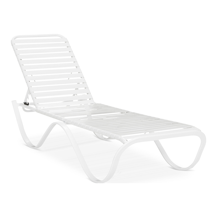 Shop garden treasures pagosa springs strap aluminum single for Aluminum chaise lounges