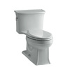 KOHLER Archer Ice Gray 1.28-GPF (4.85-LPF) 12 Rough-In WaterSense Elongated 1-Piece Comfort Height Rear Outlet Toilet