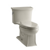 KOHLER Archer Sandbar 1.28-GPF (4.85-LPF) 12 Rough-In WaterSense Elongated 1-Piece Comfort Height Rear Outlet Toilet