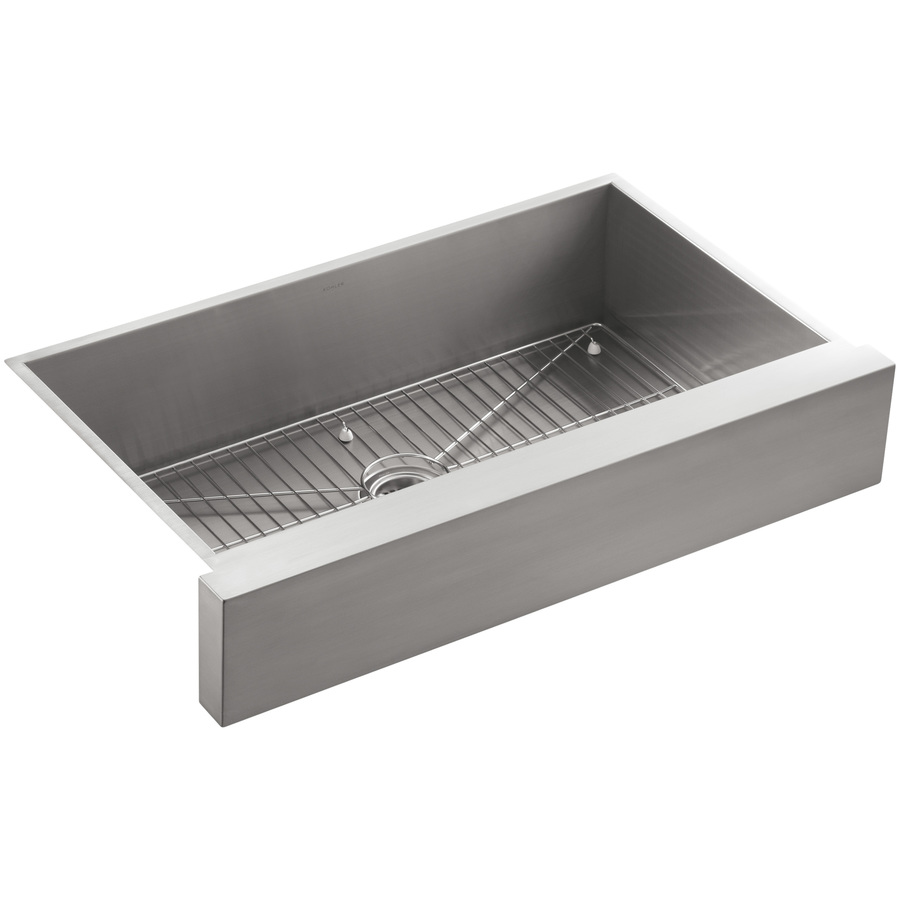 Shop kohler vault stainless steel single basin apron front farmhouse kitchen sink at - Kitchen sinks apron front ...