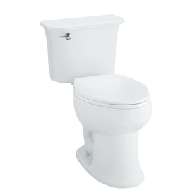 Sterling Stinson White 1.28-GPF (4.85-LPF) 12 Rough-In WaterSense Elongated 2-Piece Comfort Height Toilet