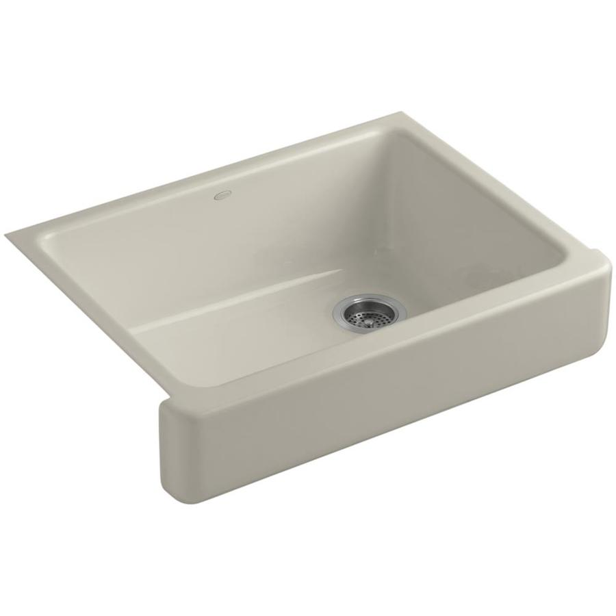 Kohler Kitchen Sinks : KOHLER Whitehaven Single-Basin Undermount Enameled Cast Iron Kitchen ...