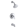 KOHLER Forte Polished Chrome 1-Handle WaterSense Bathtub and Shower Faucet Trim Kit with Single Function Showerhead