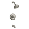 KOHLER Devonshire Vibrant Brushed Nickel 1-Handle WaterSense Bathtub and Shower Faucet Trim Kit with Single Function Showerhead