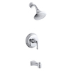 KOHLER Archer Polished Chrome 1-Handle Bathtub and Shower Faucet Trim Kit with Single Function Showerhead