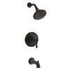 KOHLER Kelston Oil-Rubbed Bronze 1-Handle Bathtub and Shower Faucet Trim Kit with Single Function Showerhead