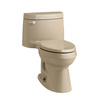 KOHLER Cimarron Mexican Sand 1.28-GPF (4.85-LPF) 12 Rough-In WaterSense Elongated 1-Piece Comfort Height Rear Outlet Toilet