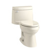 KOHLER Cimarron Almond 1.28 GPF High Efficiency WaterSense Elongated 1-Piece Toilet