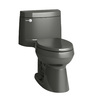 KOHLER Cimarron Thunder Gray 1.28-GPF (4.85-LPF) 12 Rough-In WaterSense Elongated 1-Piece Comfort Height Rear Outlet Toilet