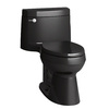 KOHLER Cimarron Black Black 1.28-GPF (4.85-LPF) 12 Rough-In WaterSense Elongated 1-Piece Comfort Height Rear Outlet Toilet