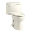 KOHLER Cimarron Ice Gray 1.28-GPF (4.85-LPF) 12 Rough-In WaterSense Elongated 1-Piece Comfort Height Rear Outlet Toilet