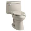 KOHLER Cimarron Sandbar 1.28-GPF (4.85-LPF) 12 Rough-In WaterSense Elongated 1-Piece Comfort Height Rear Outlet Toilet