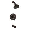 KOHLER Devonshire Oil-Rubbed Bronze 1-Handle WaterSense Bathtub and Shower Faucet Trim Kit with Single Function Showerhead