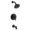 KOHLER Kelston Oil-Rubbed Bronze 1-Handle WaterSense Bathtub and Shower Faucet Trim Kit with Single Function Showerhead
