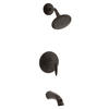 KOHLER Alteo Oil-Rubbed Bronze 1-Handle Bathtub and Shower Faucet Trim Kit with Single Function Showerhead