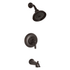 KOHLER Bancroft Oil-Rubbed Bronze 1-Handle Bathtub and Shower Faucet Trim Kit with Single Function Showerhead