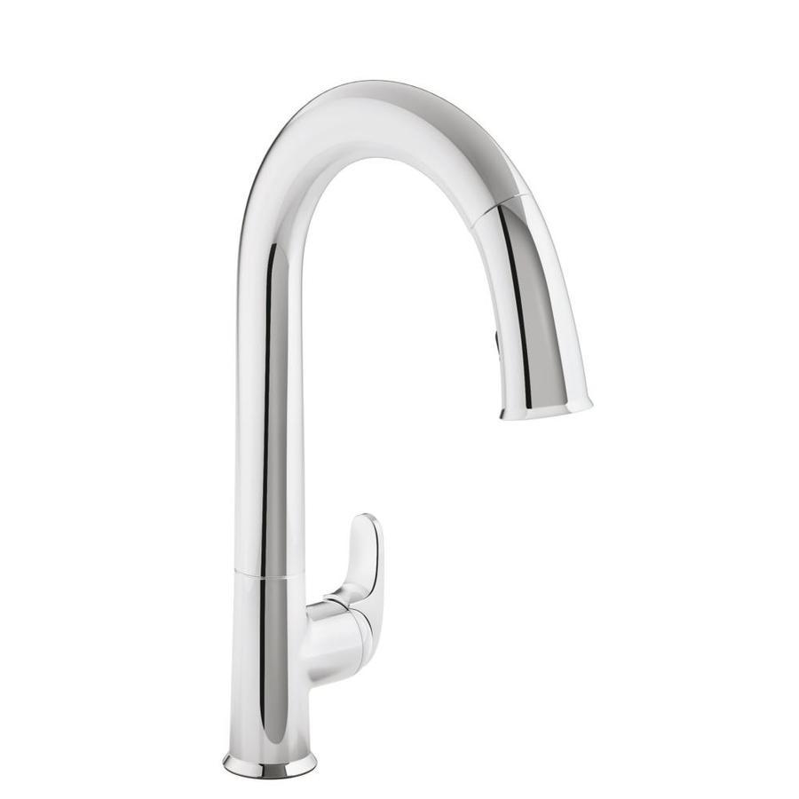 Lowes Kohler Faucets : Shop KOHLER Sensate Polished Chrome 1-Handle Pull-Down Kitchen Faucet ...