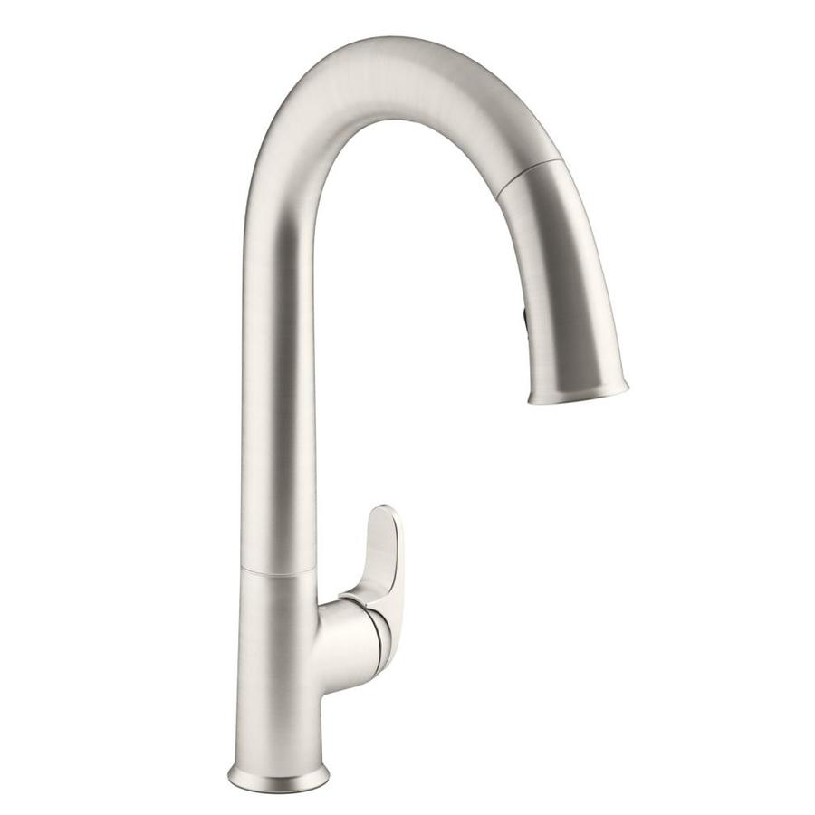 Kitchen Faucets Kohler : Kohler Forte Vibrant Stainless Pull Out Kitchen Faucet Apps ...