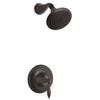 KOHLER Finial Oil-Rubbed Bronze 1-Handle Shower Faucet Trim Kit with Single Function Showerhead