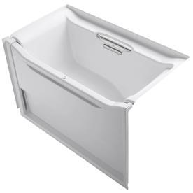 kohler elevance acrylic rectangular alcove bathtub with right hand