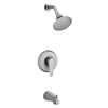 KOHLER July Brushed Chrome 1-Handle WaterSense Bathtub and Shower Faucet Trim Kit with Single Function Showerhead