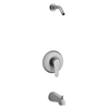KOHLER July Brushed Chrome 1-Handle Bathtub and Shower Faucet Trim Kit