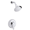 KOHLER July Polished Chrome 1-Handle WaterSense Shower Faucet Trim Kit with Single Function Showerhead