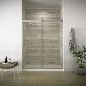 KOHLER Levity 56.625-in to 59.625-in W x 74-in H Frameless Sliding Shower Door