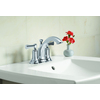 KOHLER Elliston Polished Chrome 2-Handle 4-in Centerset WaterSense Bathroom Faucet (Drain Included)