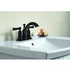 KOHLER Elliston Oil-Rubbed Bronze 2-Handle 4-in Centerset WaterSense Bathroom Faucet (Drain Included)