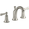 KOHLER Elliston Vibrant Brushed Nickel 2-Handle Widespread Bathroom Faucet (Drain Included)