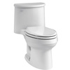 KOHLER Adair White 1.28-GPF (4.85-LPF) 12 Rough-In WaterSense Elongated 1-Piece Comfort Height Rear Outlet Toilet
